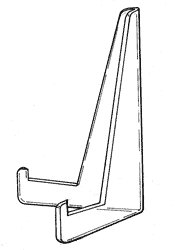 The A frame easel is also known as an XL Flat back triangle stand. This is a NEW addition to the line for larger items offering good stability with minimal stand.
