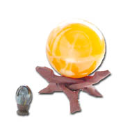 Many various styles and sizes of wooden display stands available: for small marbles, gemstone eggs & spheres to various sized Cobra Stands (as shown) supporting speciality items of geodes, sea shells, large glass Japanese fishing floats, coral, globes etc.