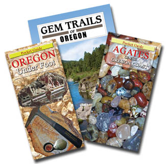 Newest OREGON TRAVELER'S PACKAGE for Rockhounding Oregon available NOW - Agates of the Oregon Coast and Oregon Under Foot - Pocket Guides - 4facets.com is a speciality bookseller stocking over 70 new book titles for the novice to the experienced, hobby or trade, we ship immediately.