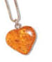Sample of an Amber heart pendant.