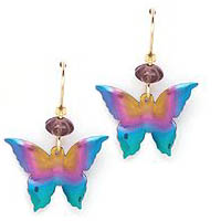 Samples of Niobium Butterfly Earrings!