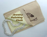Click here for the FACETS Jewelry Care Cloth with tarnish inhibitors to clean and restore the mirror like finish to heavily tarnished jewelry, small silver service, silver flatware, musical instruments, coins and more.