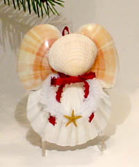 Coastal Sea Shell Angel Ornaments - Made in Oregon.  To ensure availibility of this item, order as early as possible.