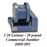 Click here and order the NEW Improved Designed Professional quality tumbler the Lortone Model C20  Rock Tumbler, Buy it From Wesley's Trading Post NOW and SAVE!